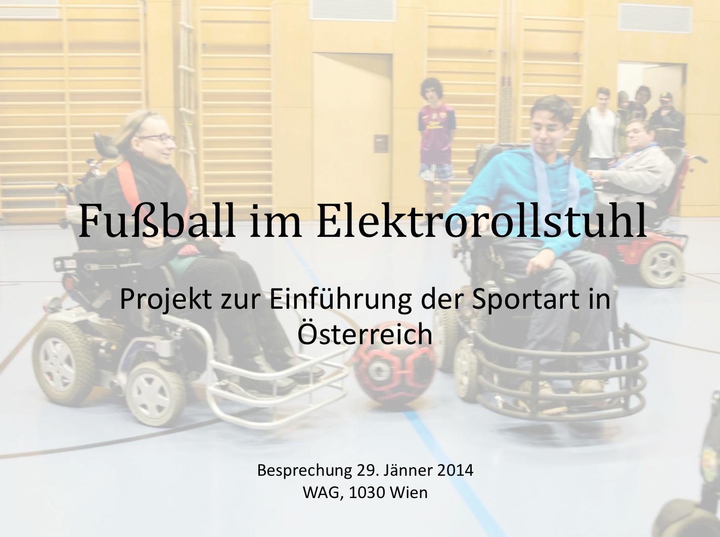 Präsentation von Matias Costa: Projekt zur Einführung der Sportart in Österreich