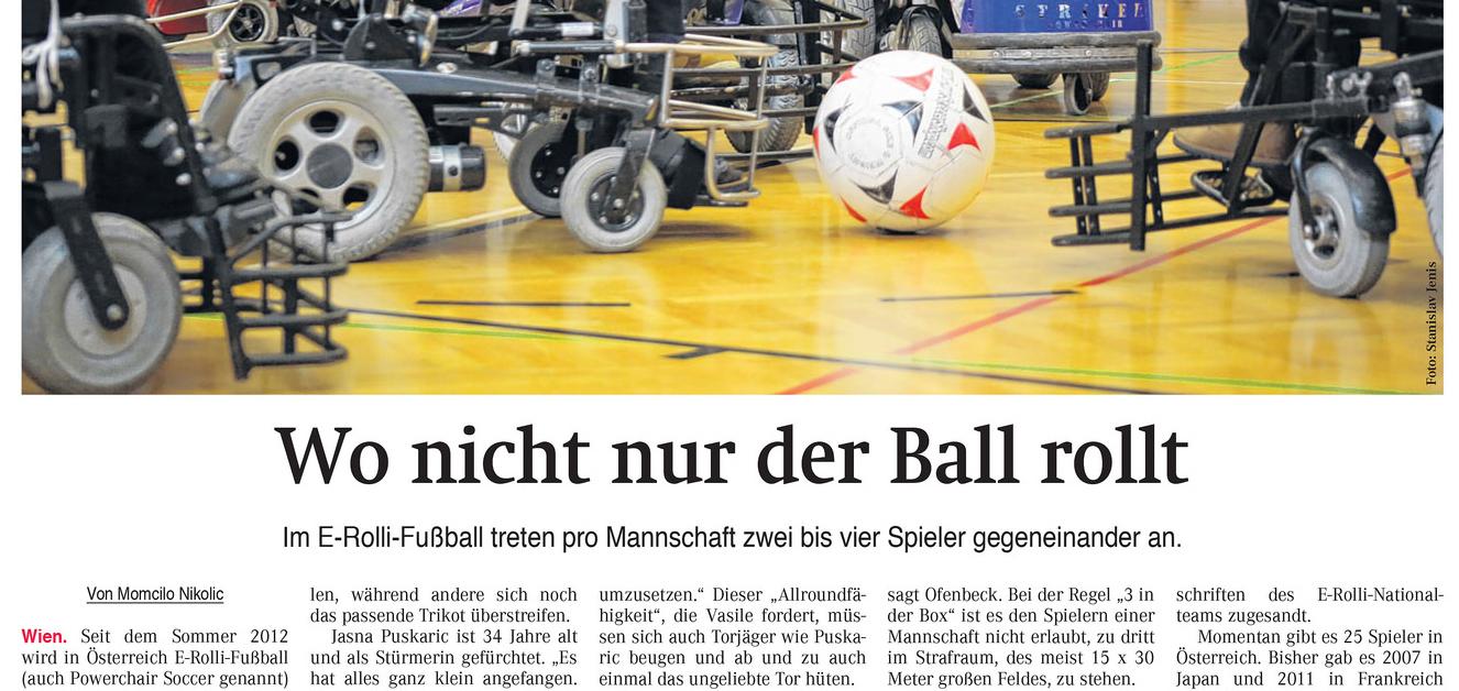 Wiener Zeitung: Wo nicht nur der Ball rollt