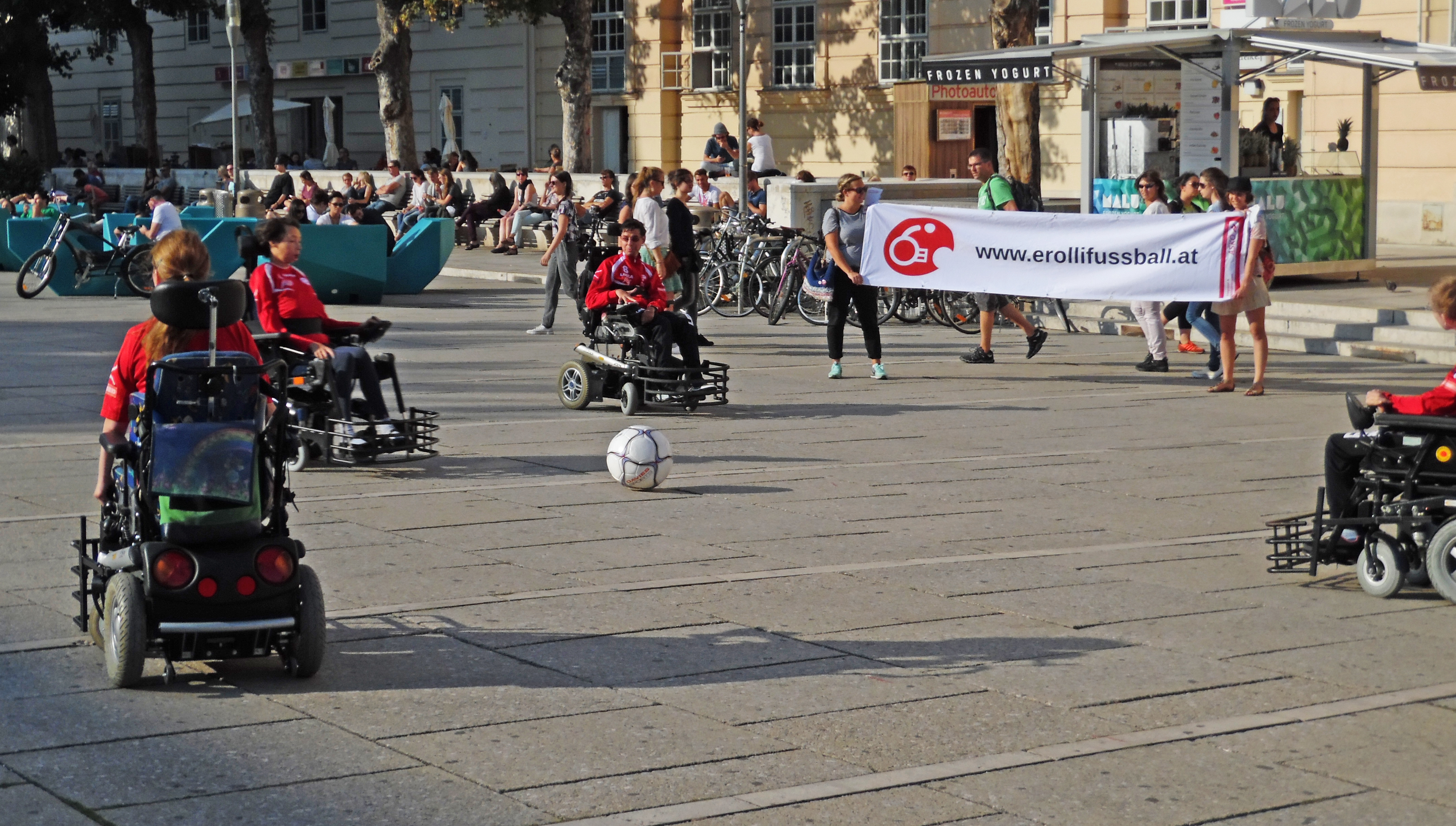 Flashmob im MQ am 23. August 2015