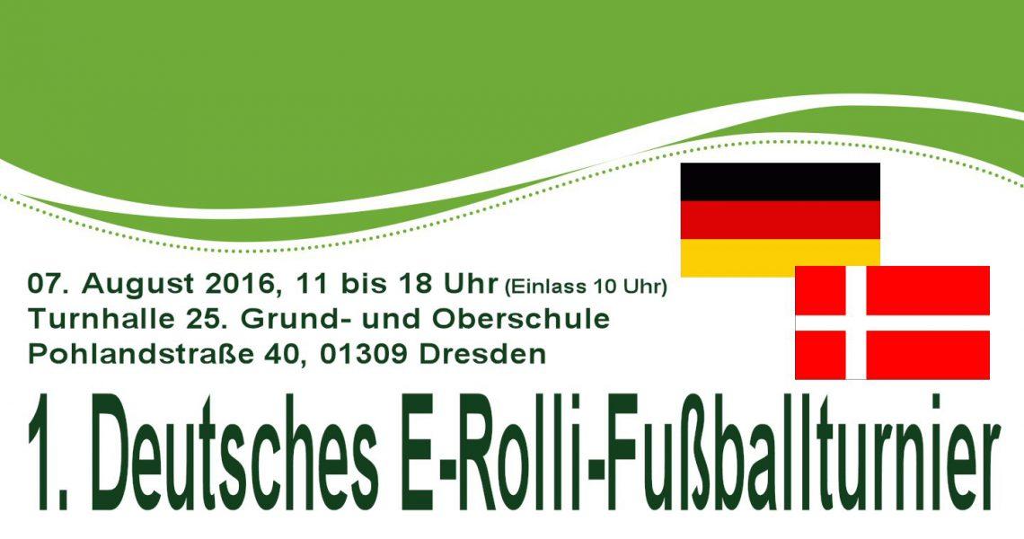 Erstes E-Rolli Fußball Turnier in Deutschland