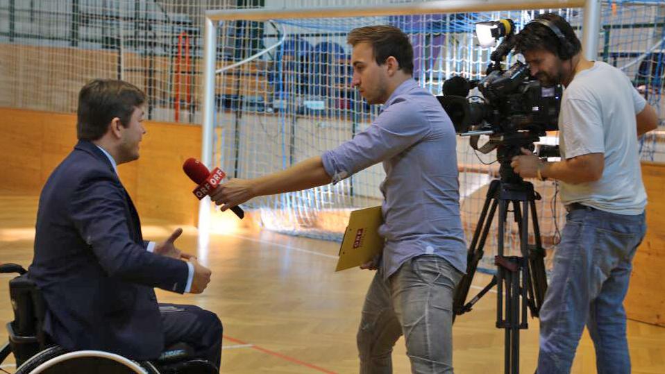 Interview für den ORF-Burgenland