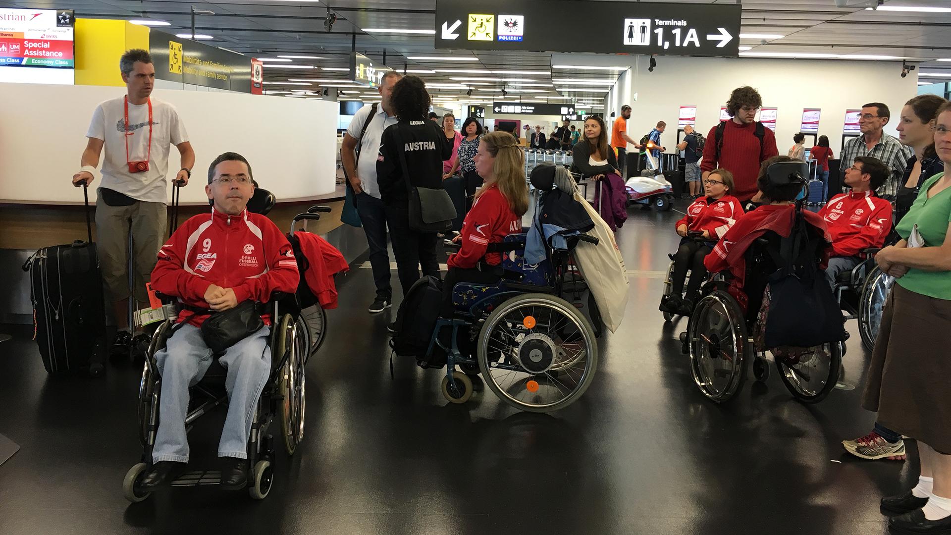 Abreise vom Flughafen Wien Schwechat
