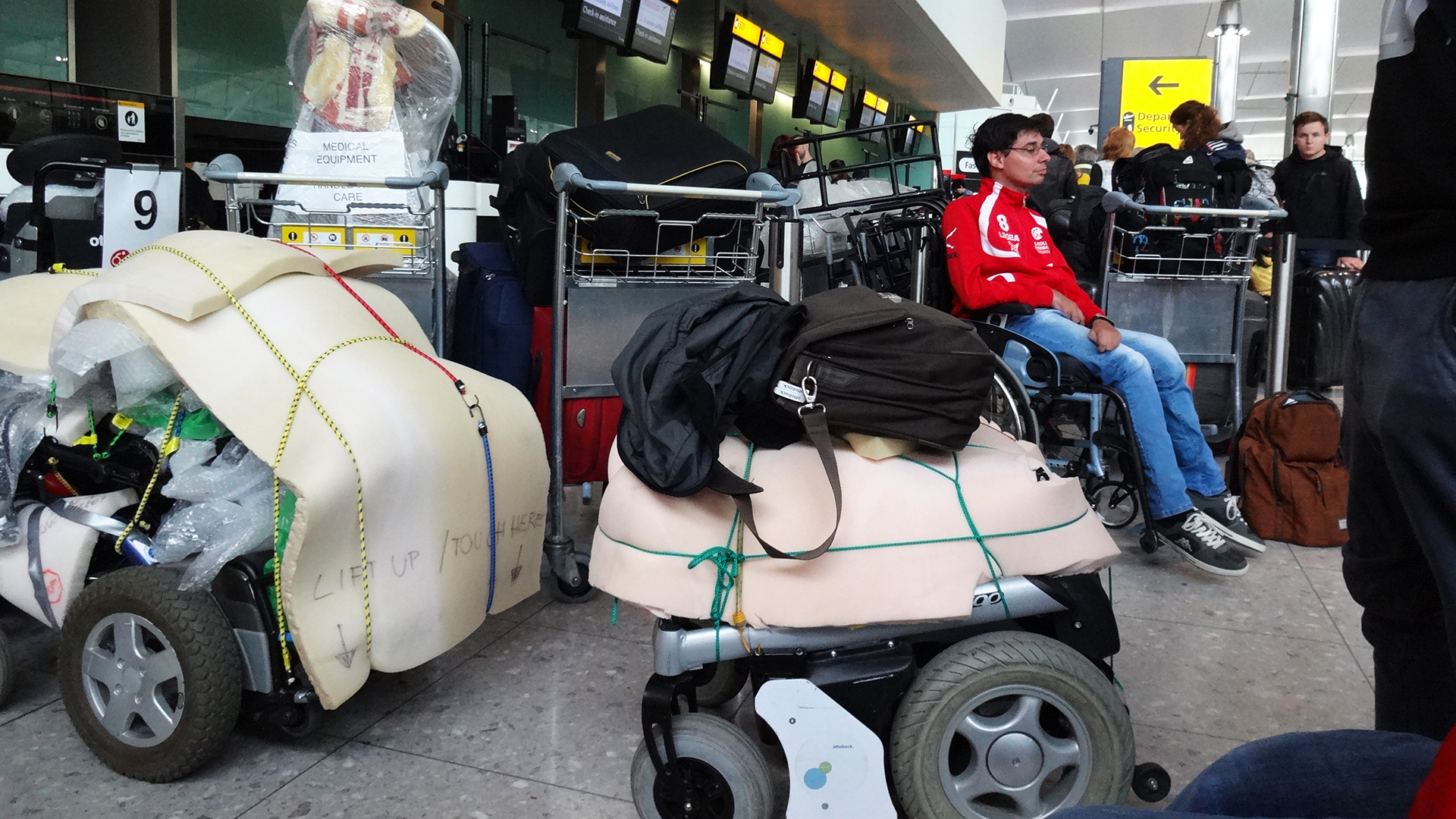Einchecken in Heathrow