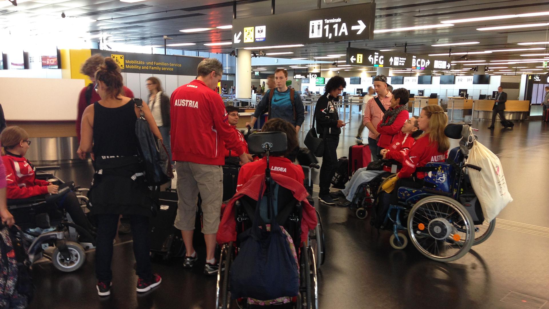 Am Flughafen Wien Schwechat