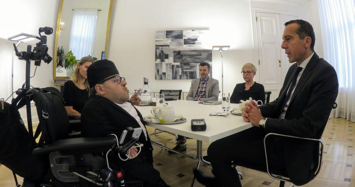 Martin Habacher im Interview mit Bundeskanzler Christian Kern