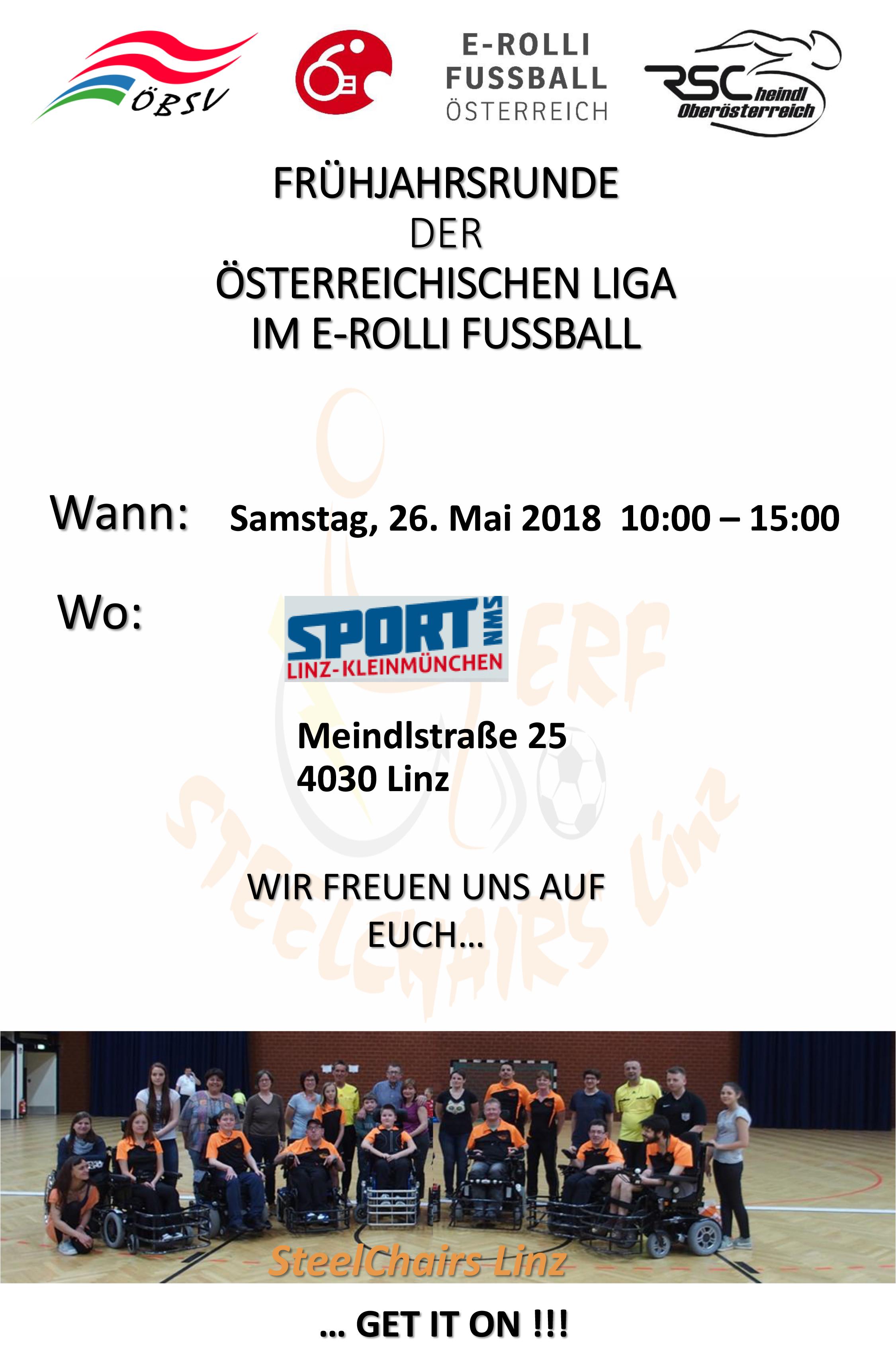 Liga 2018 - 1. Spieltag am 26. Mai in Linz