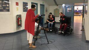 TV Aufnahmen von TANDEM: Edith Bachkönig filmt Carolina Csöngei und Iljas Jusic