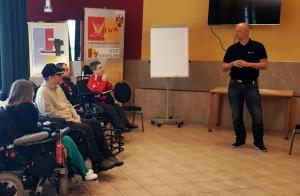 Mentaltrainer Thomas Schwarz beim Vortrag