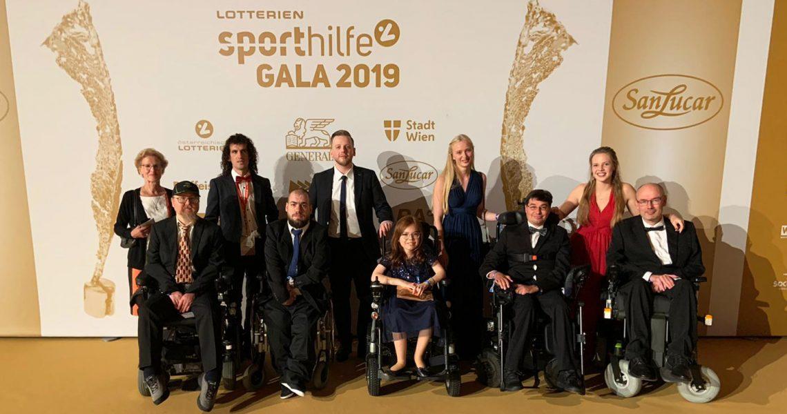 Sporthilfe-Gala 2019 mit Delegation von E-Rolli Fußball