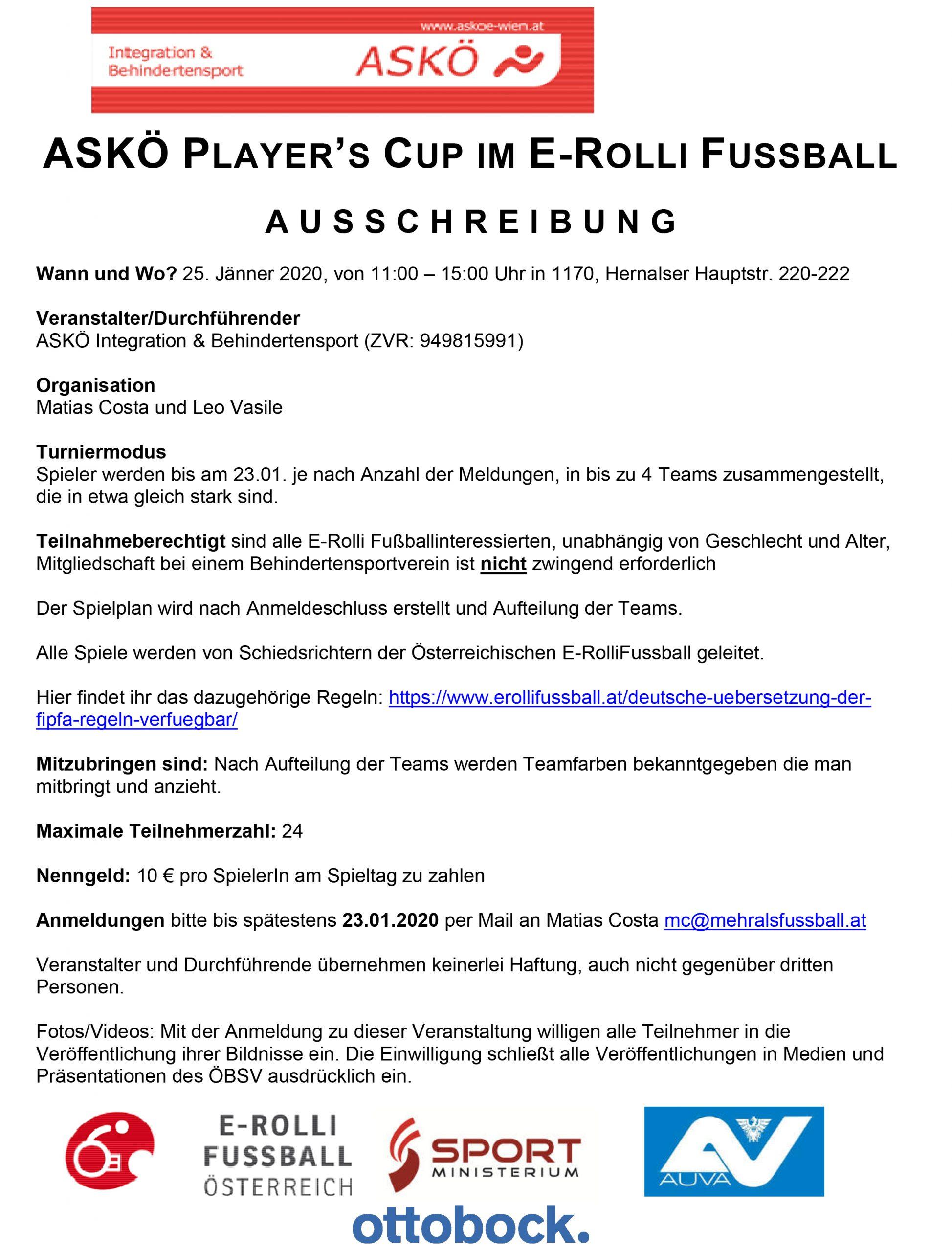 ASKÖ Players CUP Jänner 2020