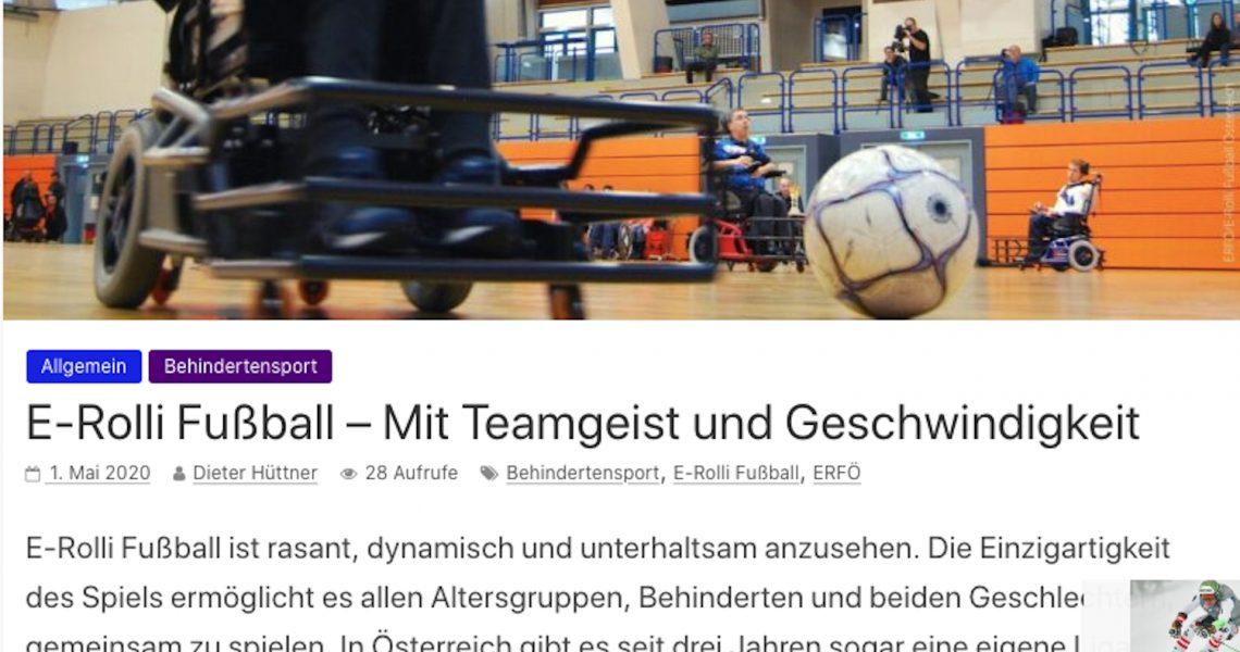 Bundessportmagazin: E-Rolli Fußball